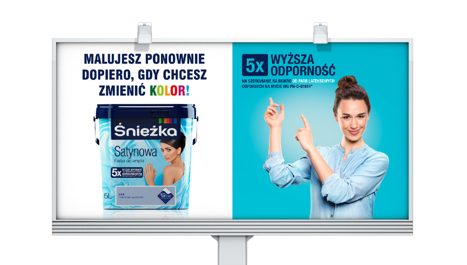 Eskadra - Śnieżka Satynowa  Resistant to 100 different kinds of stains - Śnieżka