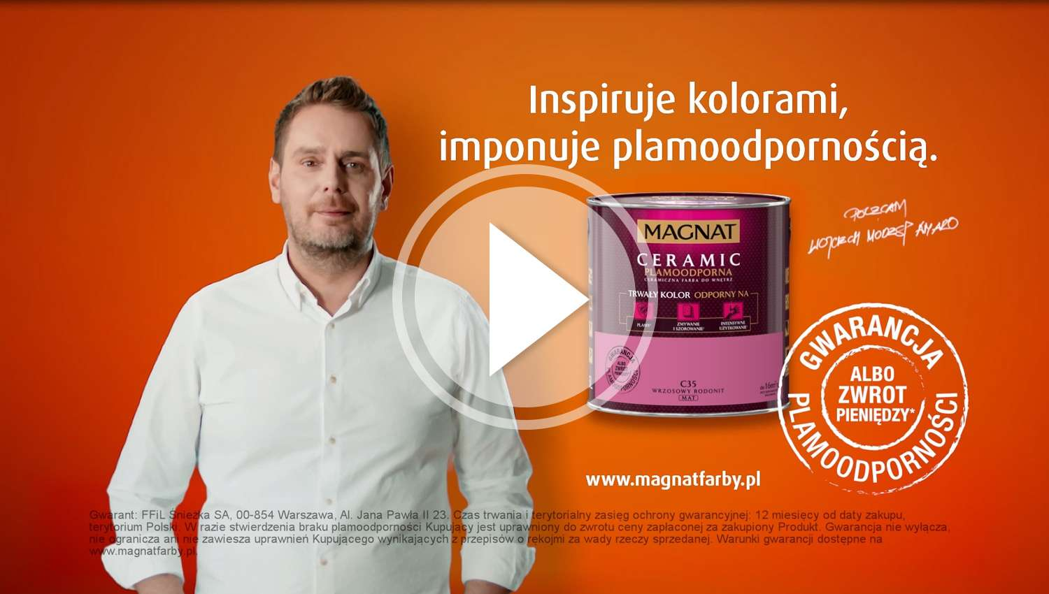 Eskadra - MAGNAT PAINT ADVERTISING SPOTS WITH WOJCIECH MODEST AMARO: LICENCE EXTENSION - ŚNIEŻKA
